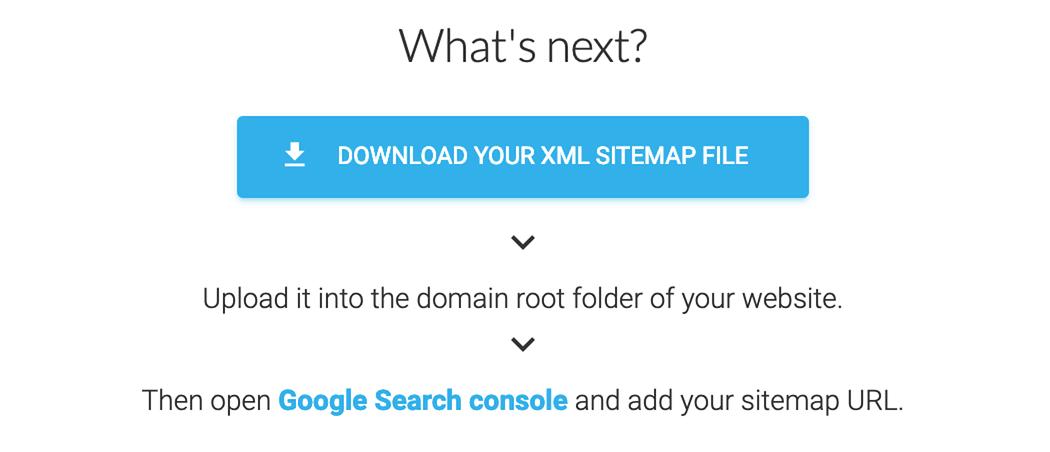 Eingabemaske zur Erstellung der eigenen XML-Sitemap auf XML-Sitemaps.com