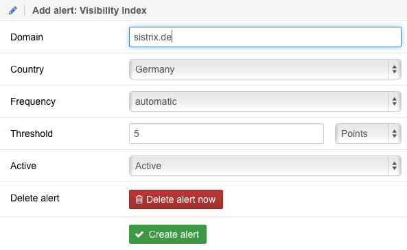 Add a Visibility Index Toolbox Alerts