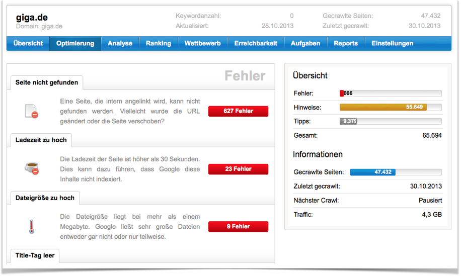 SISTRIX Optimizer giga.de