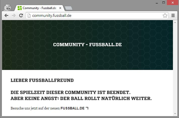 Die Spielzeit der Community von fussball.de ist beendet