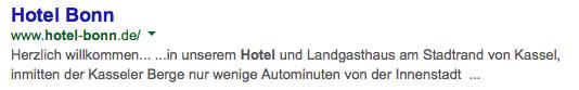 Treffer Hotel Bonn