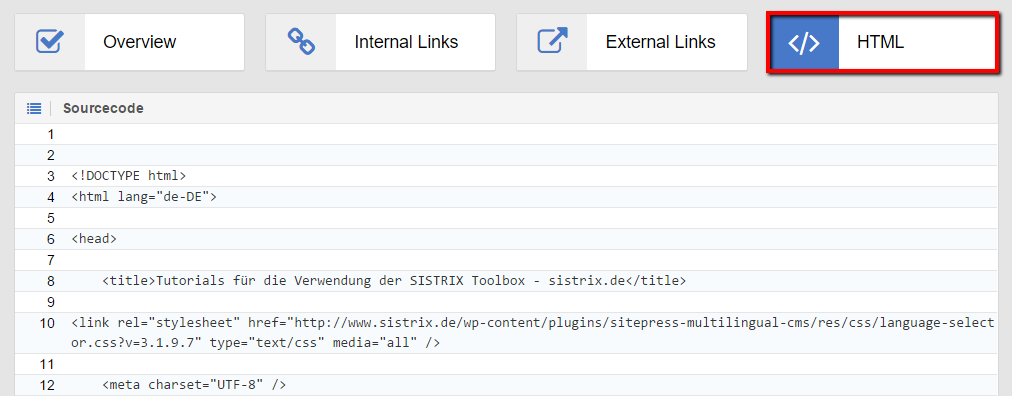 Look at the HTML sourcecode for the URL