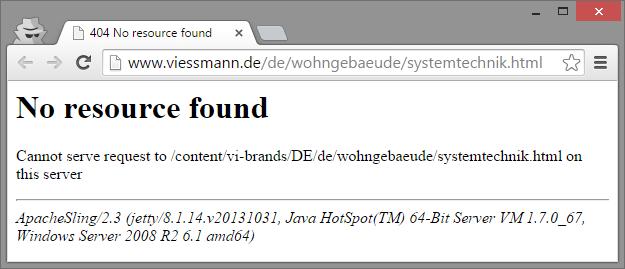 Weitergeleitete URL gibt keinen Inhalt aus und produziert 404-Fehler