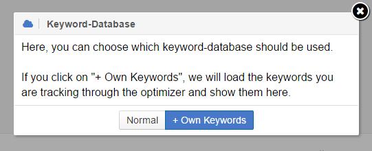 eigene Keyword Datenbank