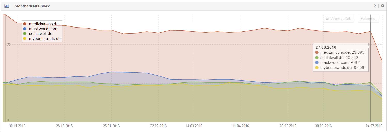 Verlierer-Domain Google Update Juni 2016