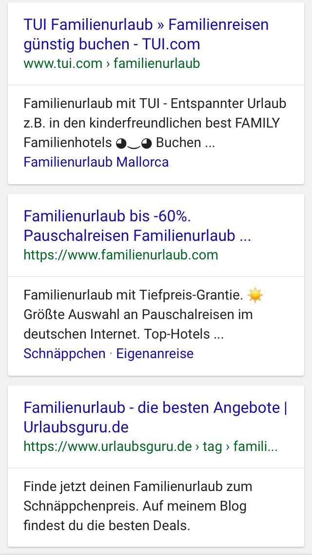 Suchergebnisse Familienurlaub