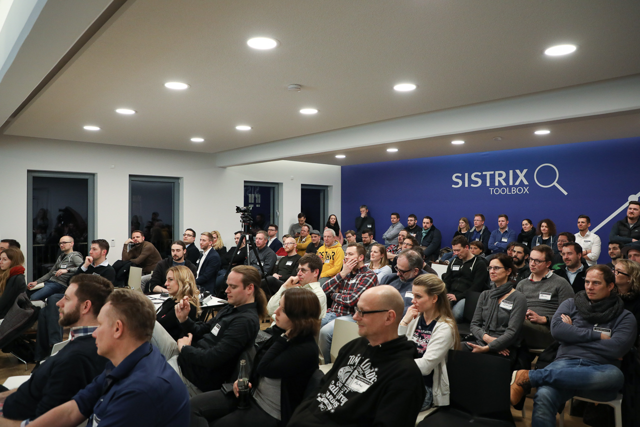 Teilnehmerbild auf dem SISTRIX SEO-Stammtisch.