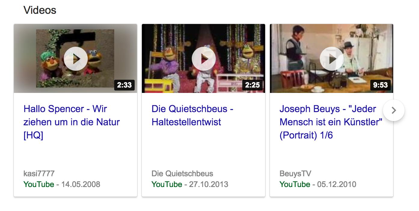 Google ha integrado los vídeos en el conocido formato de presentación en carrusel