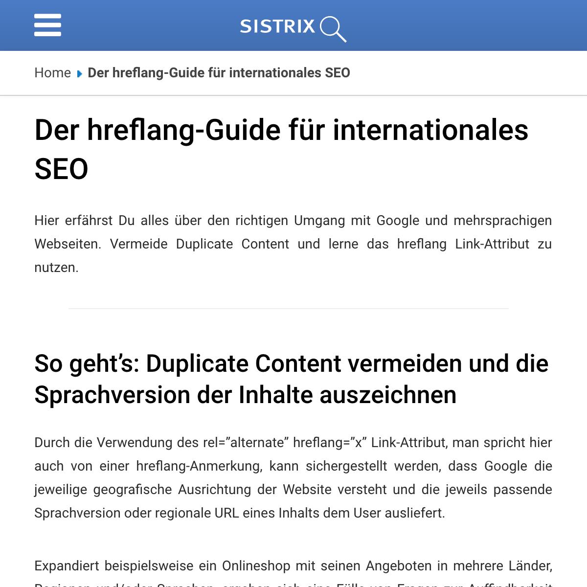 Guía para Hreflang gratuita SISTIRX