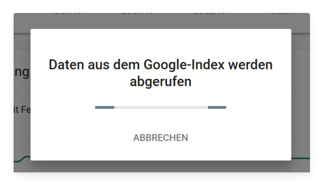 Google comprueba si la URL ya ha sido indexada.