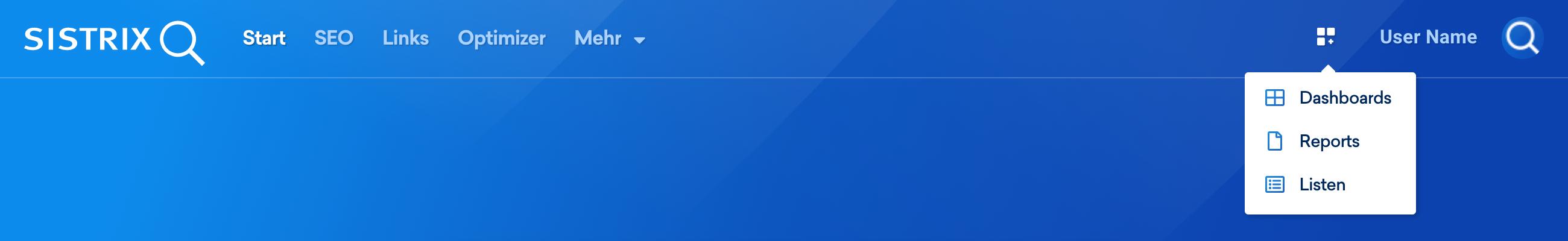 Über das Symbol in der Nähe deines Profilbilds in der oberen rechten Ecke des Bildschirms gelangst du jederzeit zu deinen Dashboards.