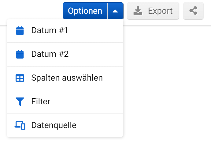 Ranking Veränderungen - Seitenweite Optionen