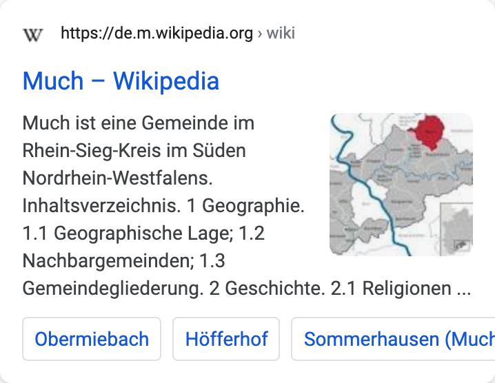 Beispiel-Suchtreffer auf der Suchergebnisseite von Google.