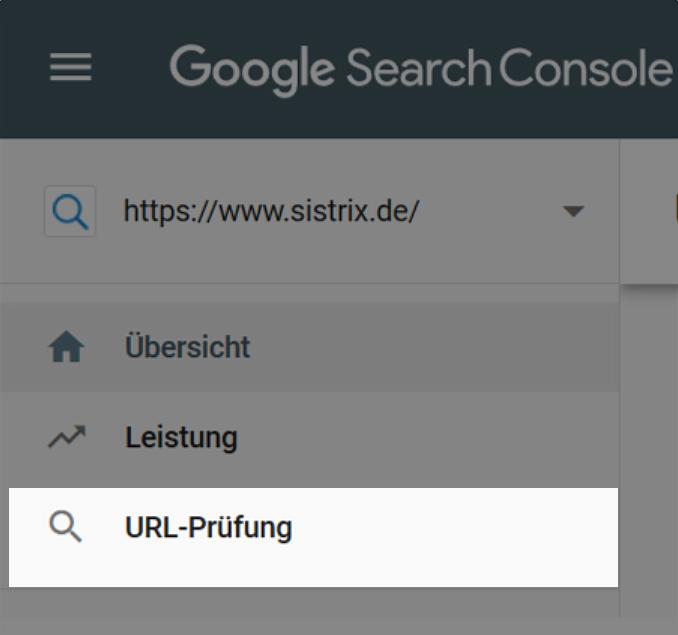 URL-Prüfung in der Google Search Console