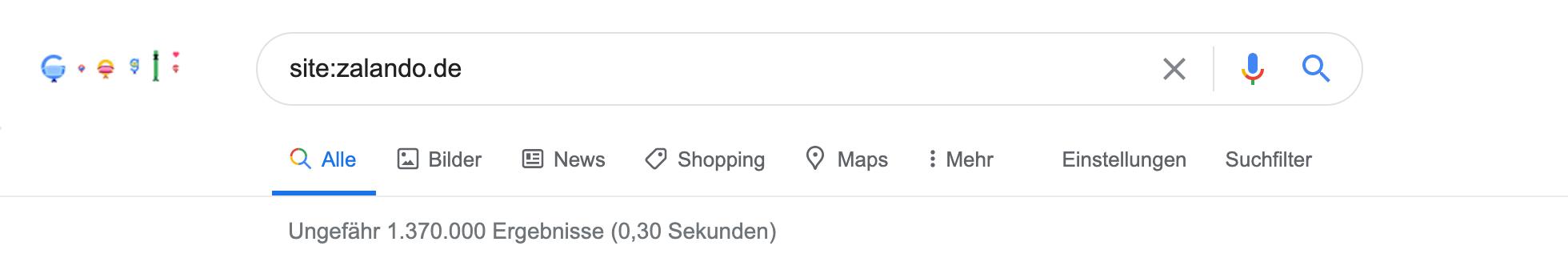Google site Abfragen