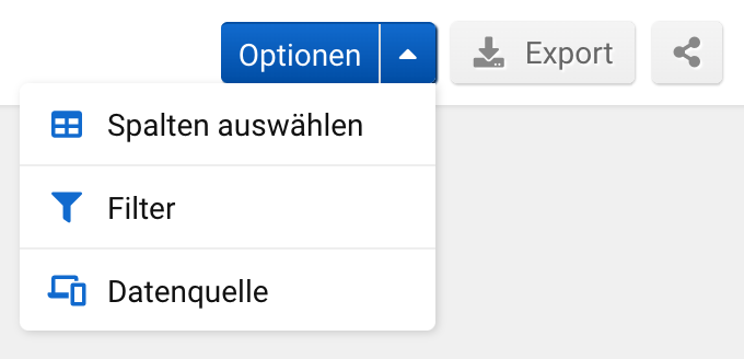Optionen der Funktion SERP-Snippets in der SISTRIX Toolbox