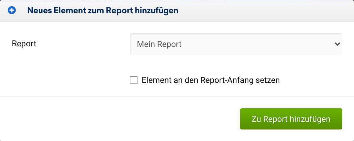 """Datumsauswahl im Report bei Verlaufsgrafiken. Als Startpunkt ist der 01.01.2016 festgelegt und als Box-Überschirft wurde """"Sichtbarkeit zwischen HTTP und HTTPS - www-Host"""" eingetragen."""