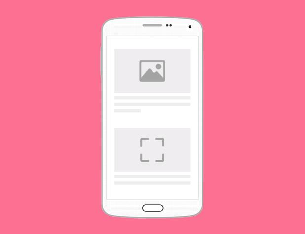 """Zeigt ein Beispiel-Layout mit """"Lazy-Loading"""" in der mobilen Ansicht an."""