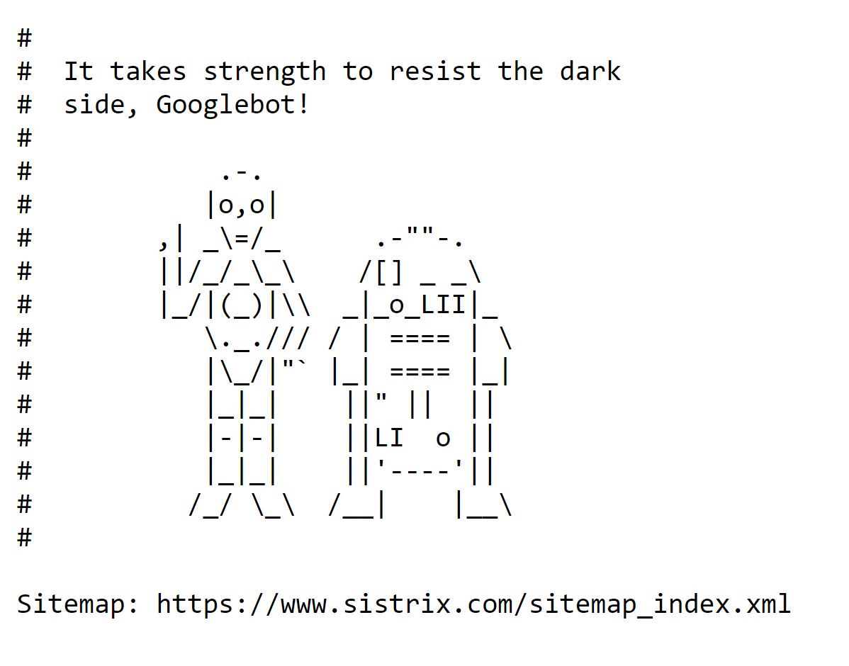 robots.txt-Datei Beispiel